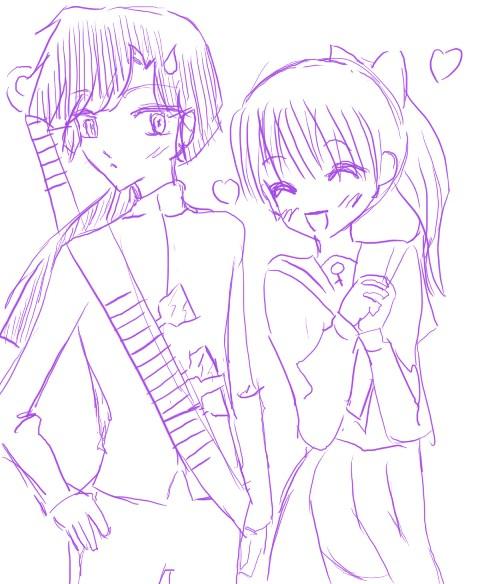 Ukyo and Tsubasa by mizj
