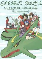 Emerald Double Nuzlocke 4th Anniversary! by mizj