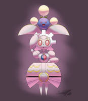 Magearna and Jumpluff by Sol-Lar-Bink