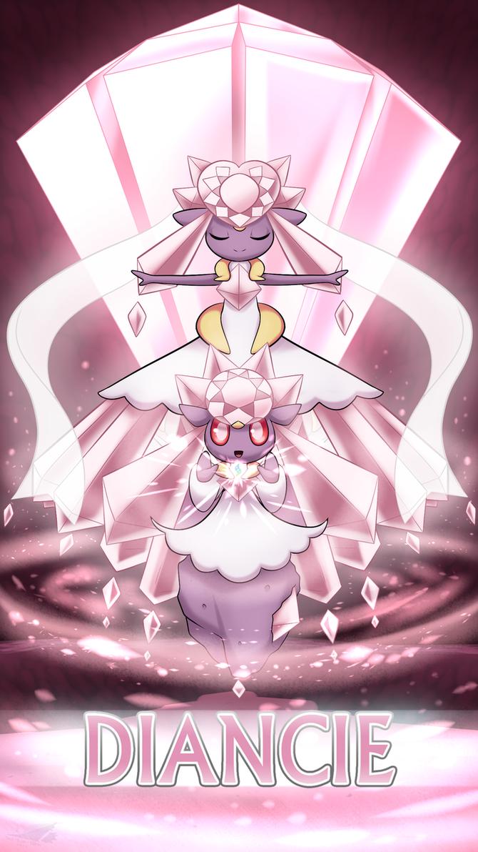 Pokemon 20th Anniversary- Diancie by Sol-Lar-Bink