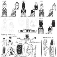 Hollow Knight - Highreign Character Concepts
