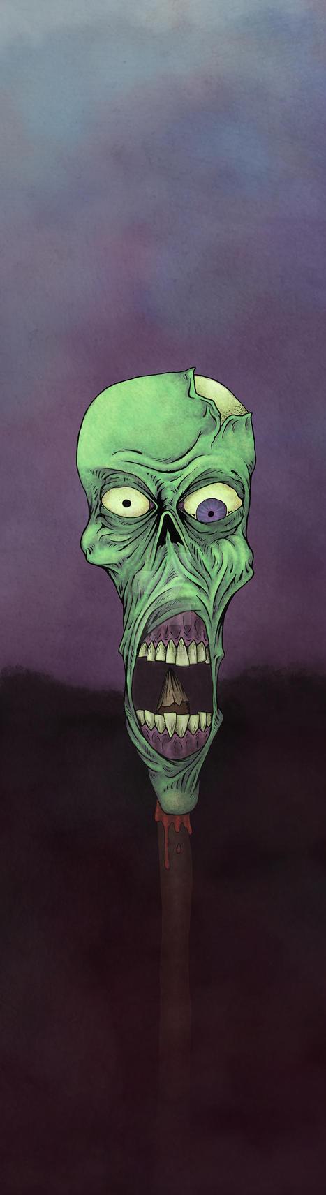 Zombie on a stick by sintheticsanity