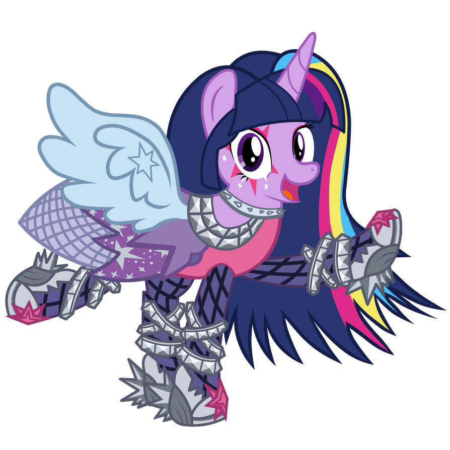 Twilight Sparkle Rainbow Rocks By Whatchyagonnado On