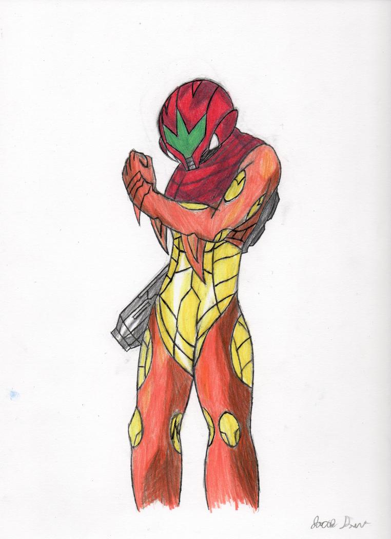 Samus Aran_Metroid Fusion by Dawnisrising