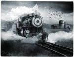 Black and White Train by nine9nine9