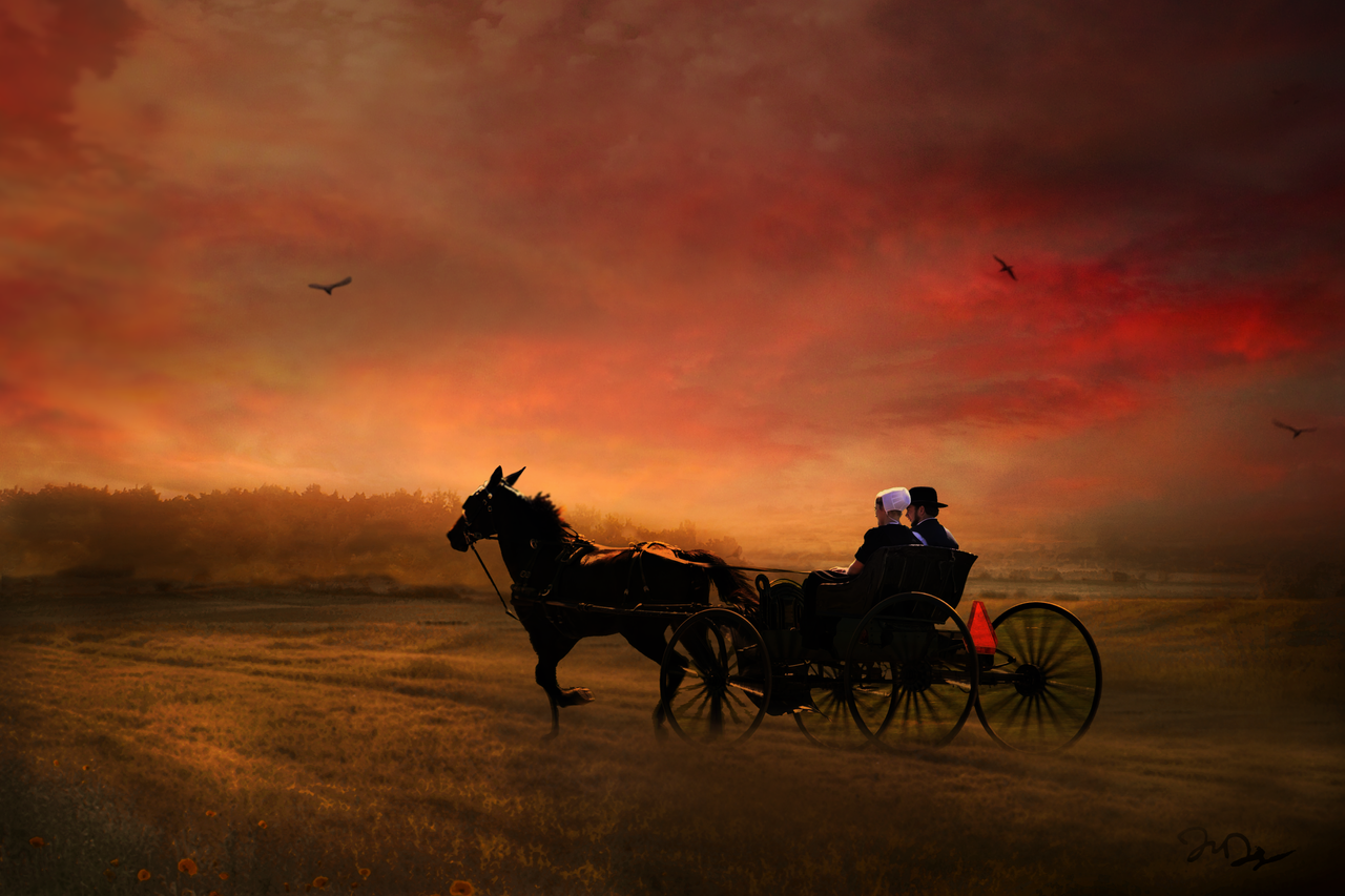 Amish Sunset by nine9nine9
