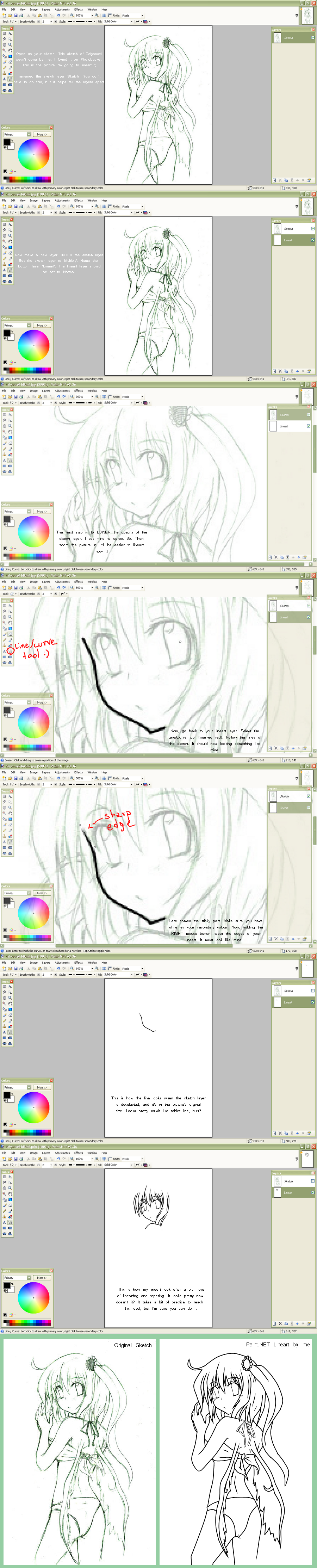 Line Art Tutorial Photo : Paint lineart tutorial by demonedaway on deviantart