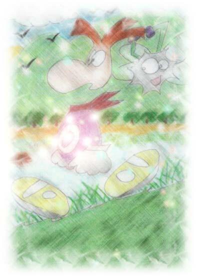 Rayman and Hyper Shadow Lum by googley