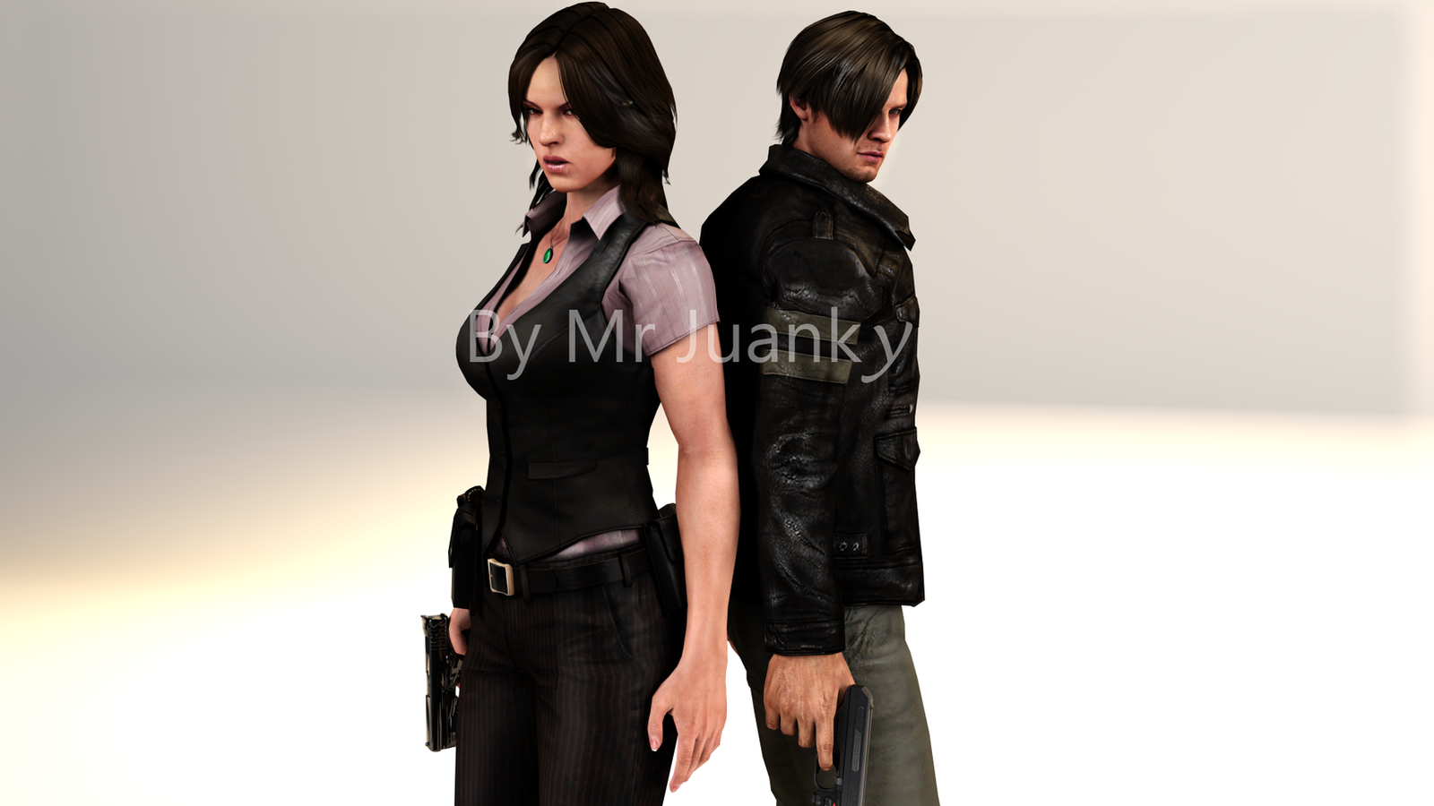 Leon s kennedy and helena harper by mr juanky on deviantart