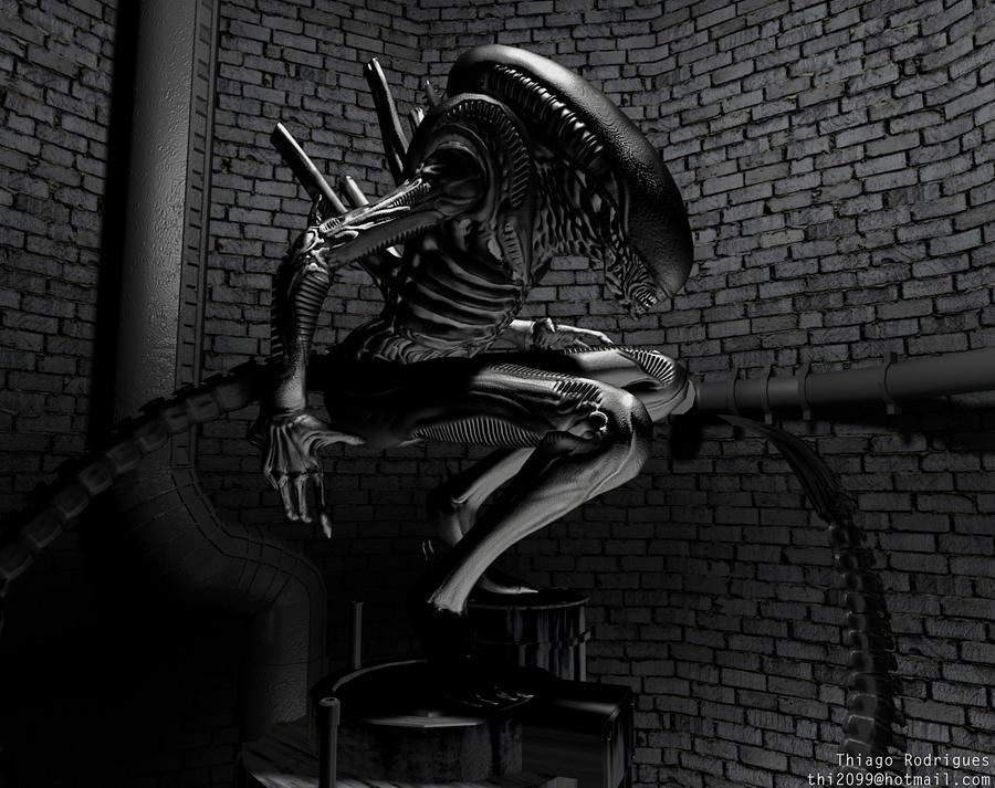 H.R Giger Alien by thi2099 on DeviantArt H.r. Giger Alien Wallpaper