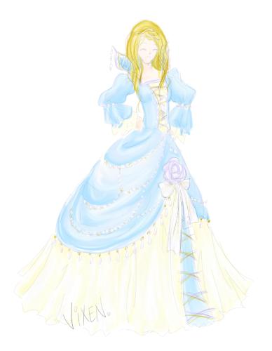 Buttercreme Ballgown by Flurryfox