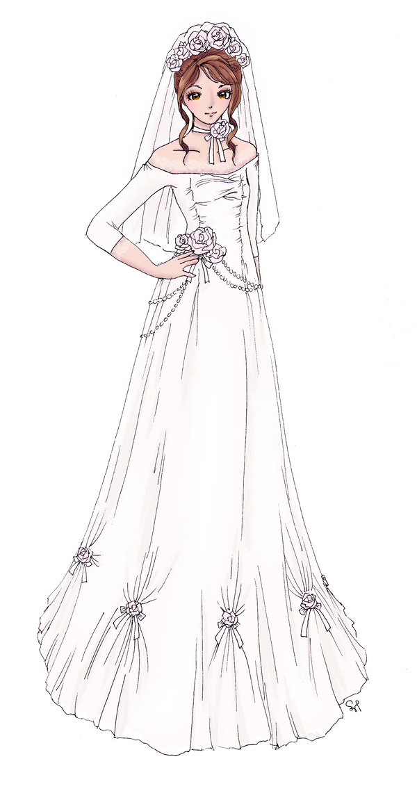 Bridal Dress 1 by Flurryfox