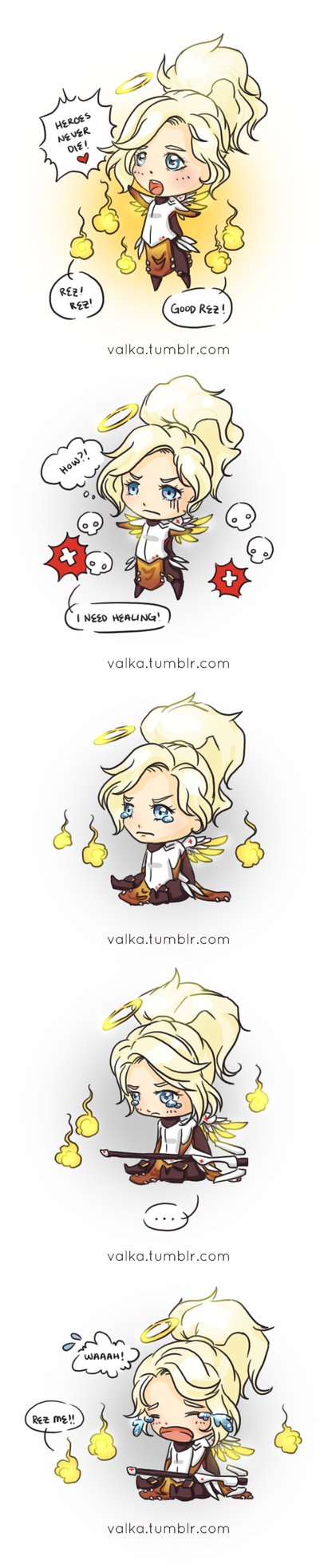 Don't make your Mercy cry! :C by Flurryfox
