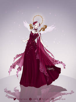 Angelic Poinsettia Gown