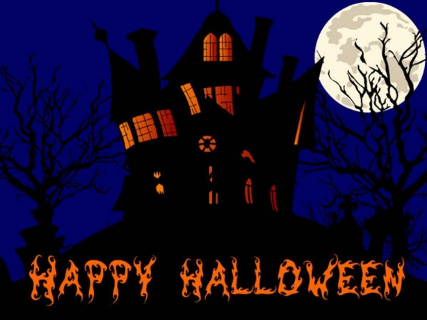 happy halloween house wallpaper 1024x768pp w614 h by emeraldwarrior0655 - Halloween Holiday