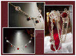 Red Elegance Necklace by karemelancholia