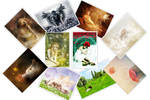 Postcards Set by karemelancholia