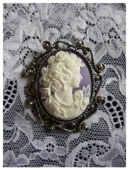 Antique Goddess Brooch