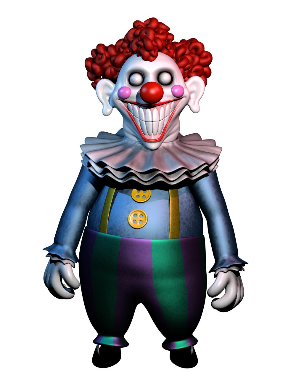 That clown guy in fnaf 6 by LazyThePotato on DeviantArt