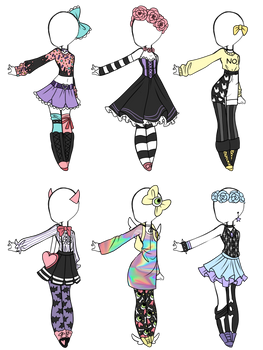 Emergency OTA Pastel Goth adoptables (1/6 OPEN)