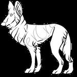 Belgian shepherd lineart