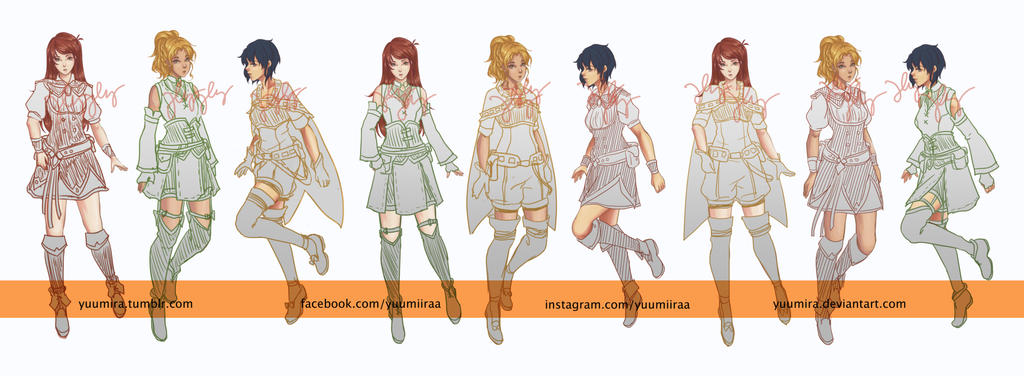 variation characters F by Yuumira