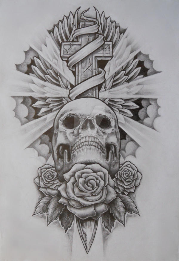 Skull and cross by Stu-mo on DeviantArt Skull And Cross Drawing