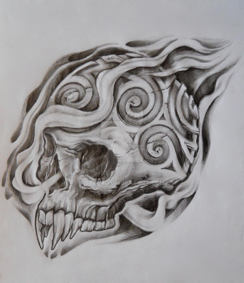 Carved skull by stu mo on deviantart