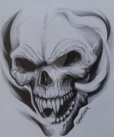 laughing skull by stu mo on deviantart. Black Bedroom Furniture Sets. Home Design Ideas