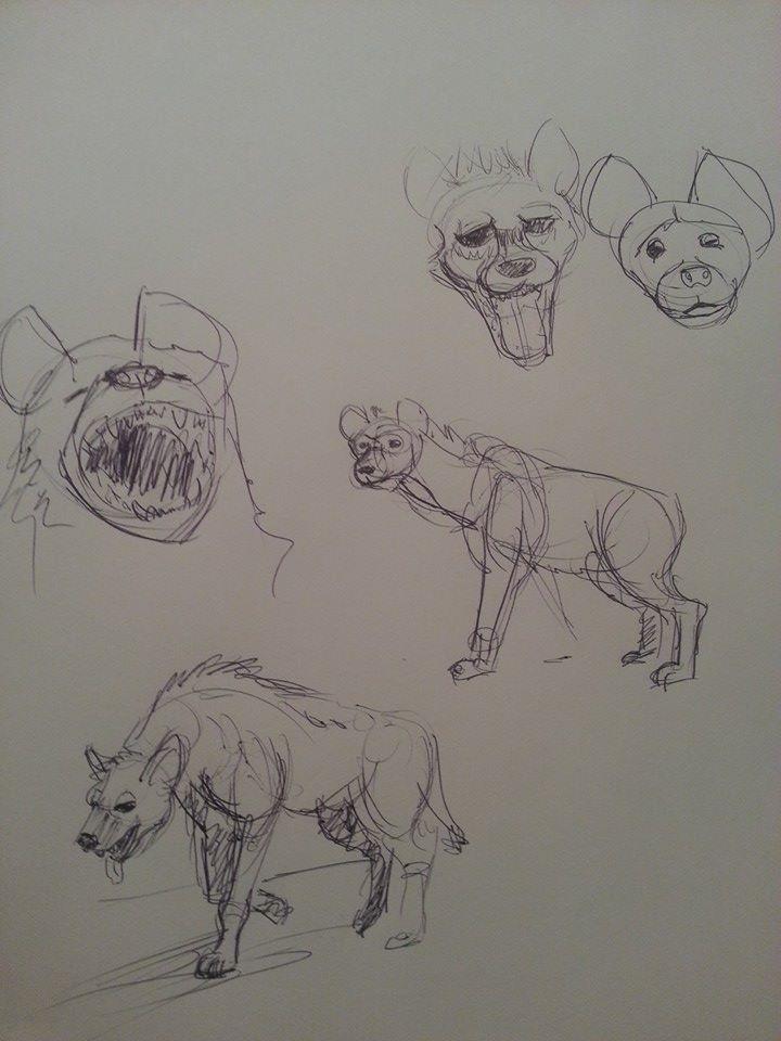 Late night hyenas by ThatWhiteFox