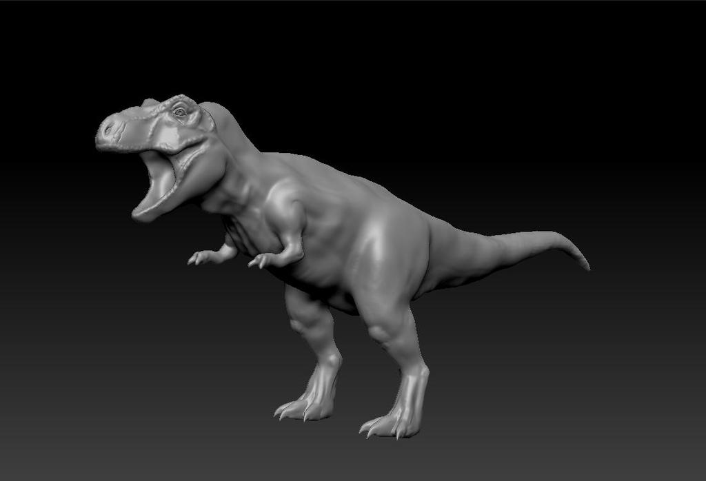 T-Rexin' it (WIP) by ThatWhiteFox