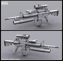 M4A1 Config A by kehlan