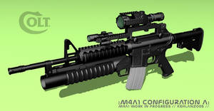 M4A1 Texture  WIP