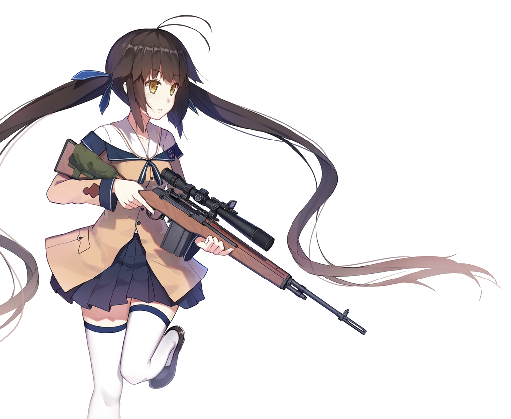 Anime girl gun render by iiijok3riii on deviantart - Gun girl anime ...