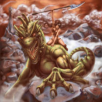 Lizard Rider by KioBB