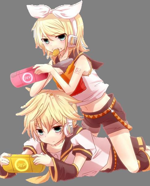 Rin n Len render by mimikohchan