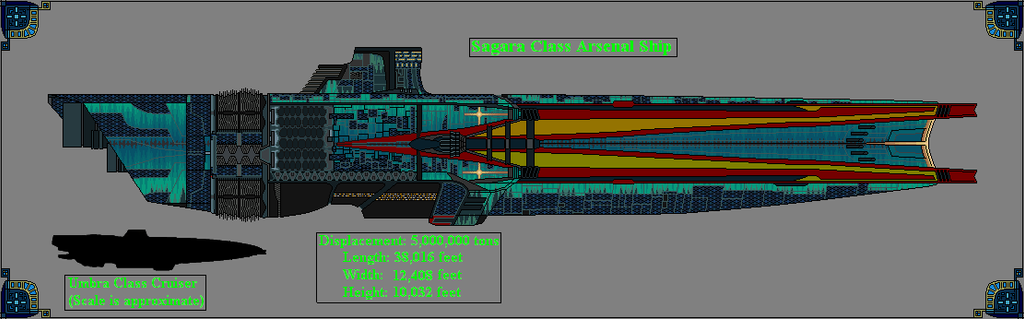 Sagara Class Arsenal Ship by GratefulReflex