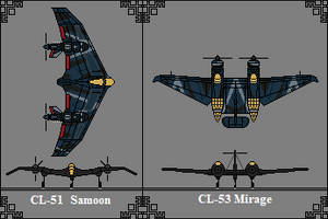Kingdom of Ashlain Bombers and Recon Aircraft by GratefulReflex