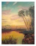 Sunset on the St Johns
