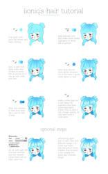 kawaii hair tutorial by iioniq