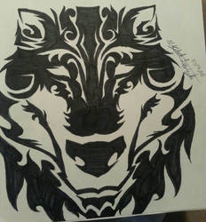 wolf face by 1027rockon