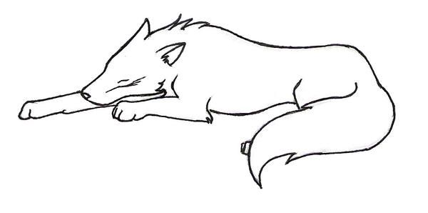 Sleeping Wolf By Bloodyvampire18 On DeviantArt