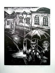 'Passeio sob noite chuvosa' by pmartins