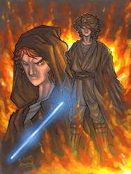 Anakin Color Sketch by raulman