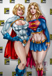 Power and Supergirl by Marcio Abreu