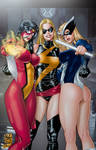 3 Marvel Girls By Paulo Siqueira