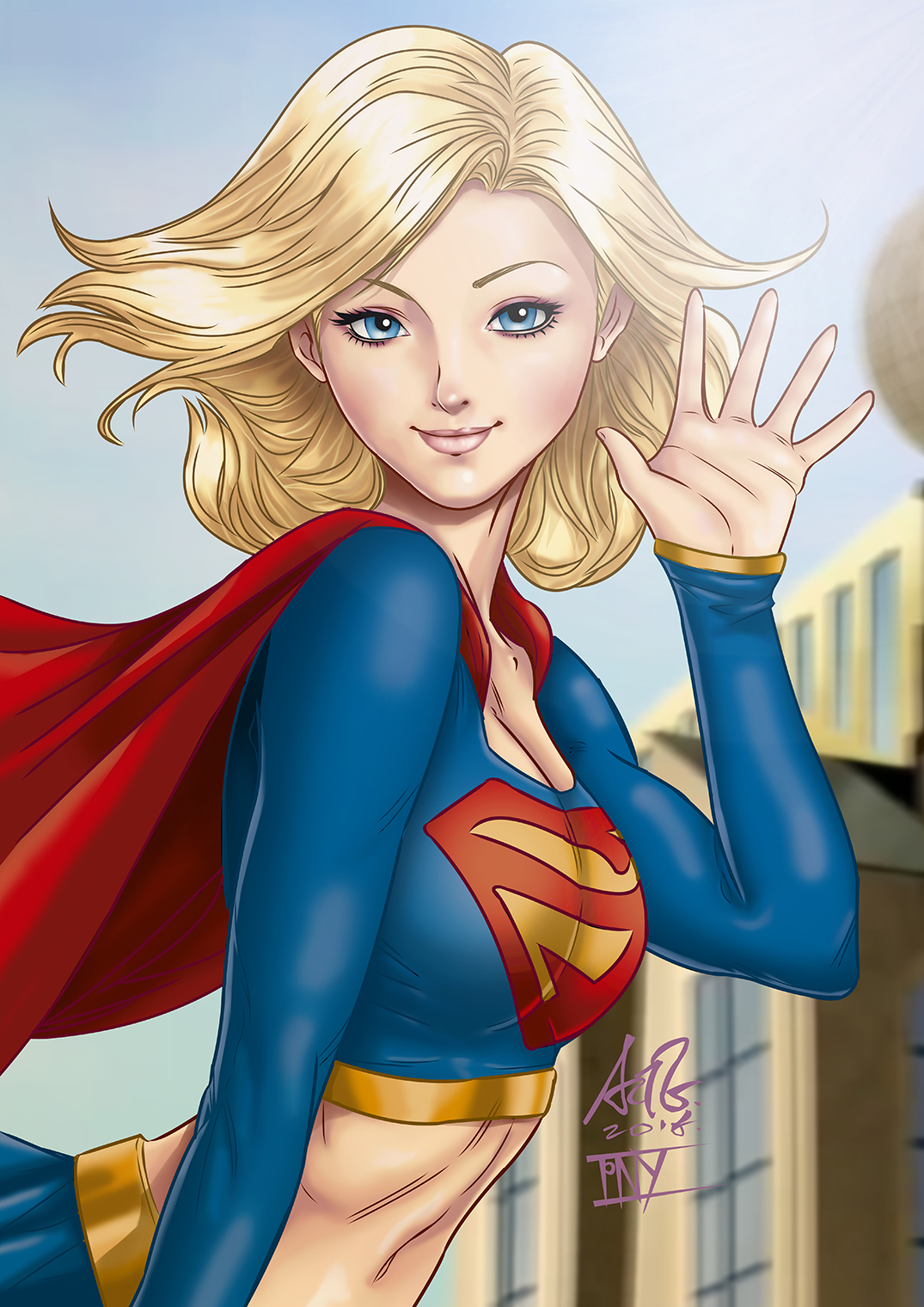 Supergirl TV Pin-up by tiangtam on DeviantArt