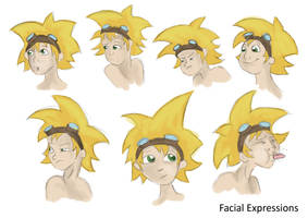 Frankie's Facial Expressions by GoEnkidu