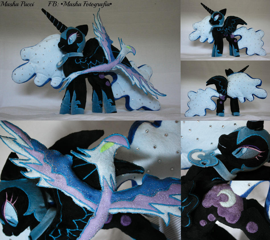 PHOENIX and Nightmare Moon Plush Awesome by Masha05