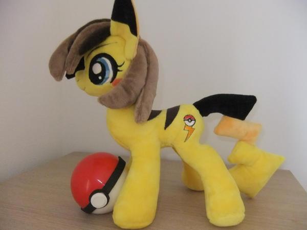 New Style Pikachu My Little Pony Plush By Masha05 On